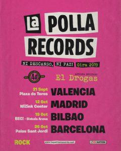 Seguro para gira de conciertos La Polla Records 2019